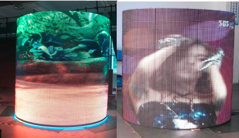 Visualpower column shape led display