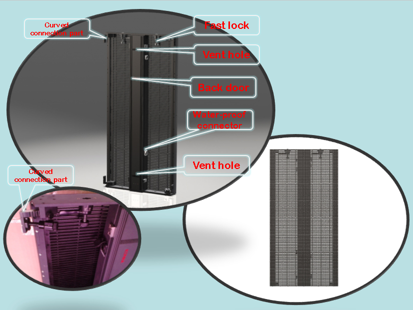 Visualpower universal size led curtain design